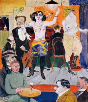 Rudolf Schlichter - Tingel tangel 1919–20  -  Watercolour
