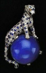 Duchess of Windsor's Cartier Diamond and Sapphire Panther Pin 1949