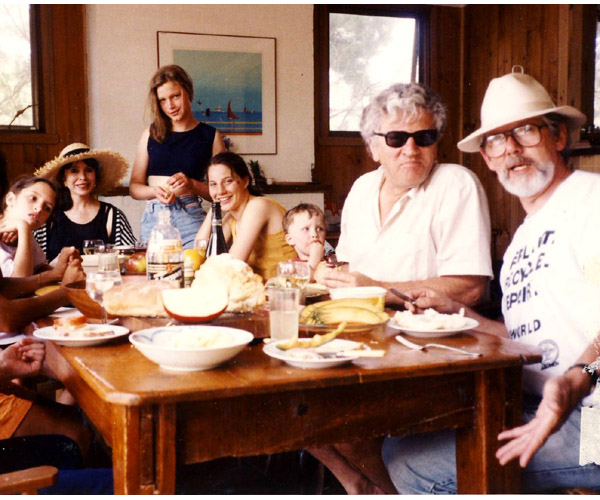 Lunch at Somers, John and Tim 1992