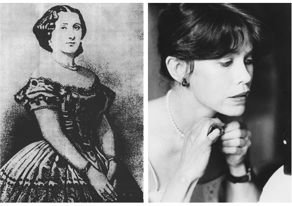 Left: Countess Celeste de Chabrillan  Right: Alison aka Countess Celeste de Chabrillan