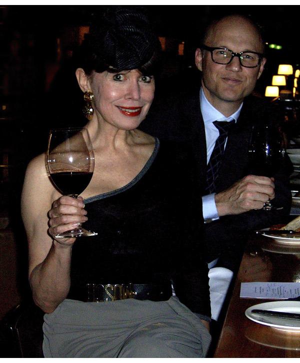 Alison wearing Jean Paul Gaultier skirt, Antonio Marras one shouldered silk knit with Shane Douglas